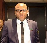 leader of the IPOB (indigenous people's of biafra) group, Nnamdi Kanu