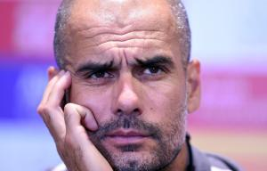 Pep Guardiola thinking about his pending move to England next season.