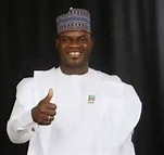 Audu's son, Yahaya Bello who has been declared winner of the 2015 Kogi governorship election.