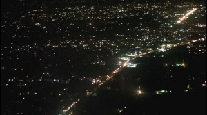 Lagos by night from the air